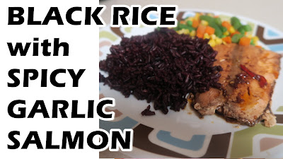 Black Rice and Spicy Garlic Salmon | Hair Food