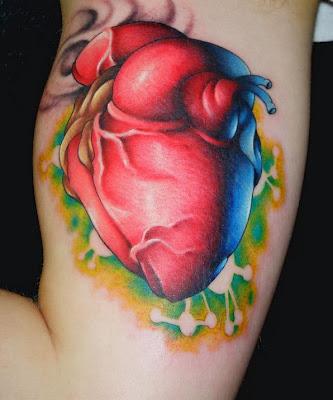 Tatuagem Realista de Coração