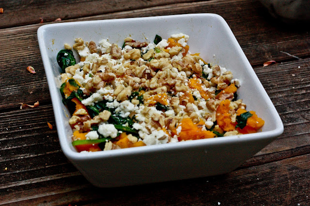Primal Goat Cheese, Spinach and Pumpkin Salad
