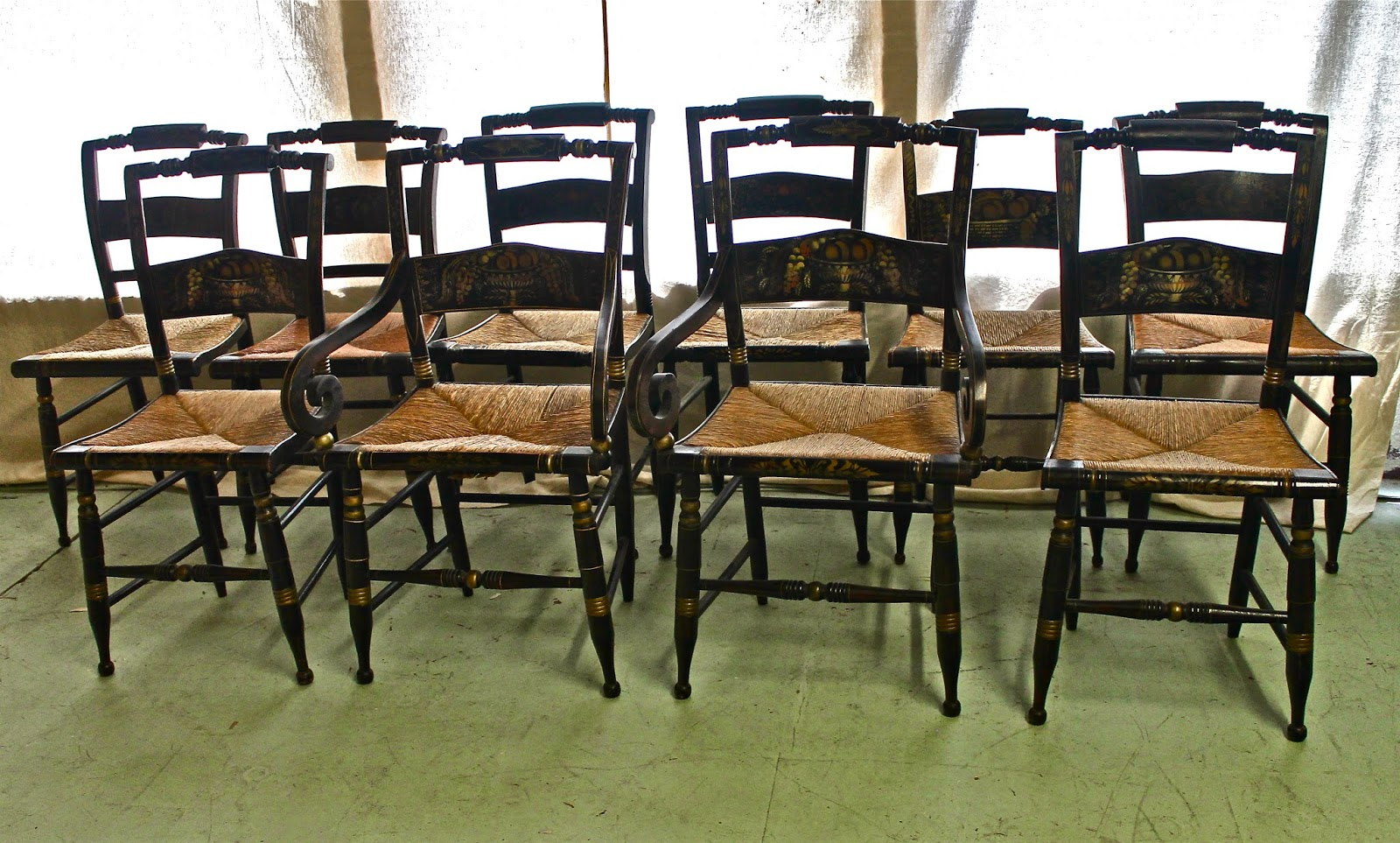Merveilleux HITCHCOCK CHAIRS  19th C.