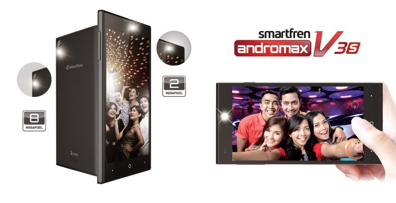 Smartfren Merilis Gadget Terbaru, Andromax V3S Solusi untuk Kamu yang Suka Selfie