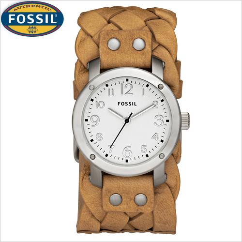 secretbargains2 fossil s braided leather cuff band