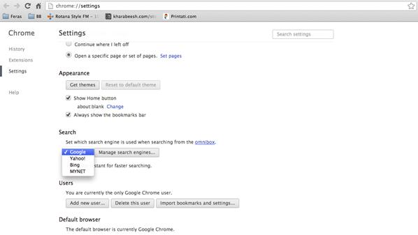حل مشكل تغيير محرك البحث الافتراضي لجوجل كروم