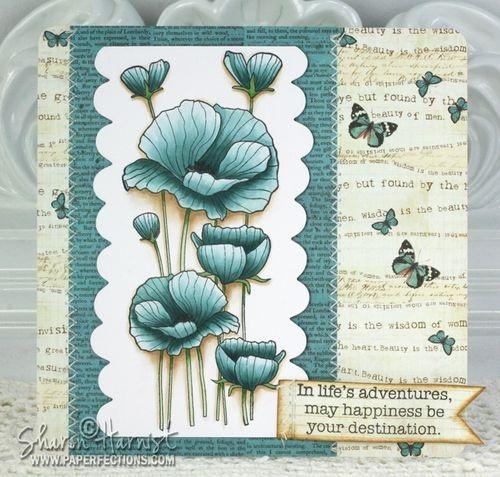 Tarjeta flores delicadas