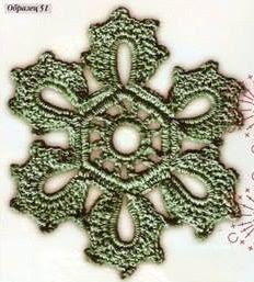 #701 Patrón de Flor Hexagonal a Crochet