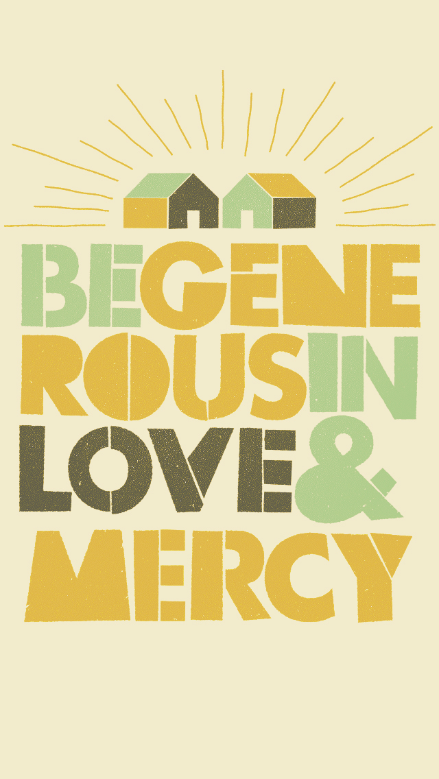 To Resolve Project - be generous in love and mercy