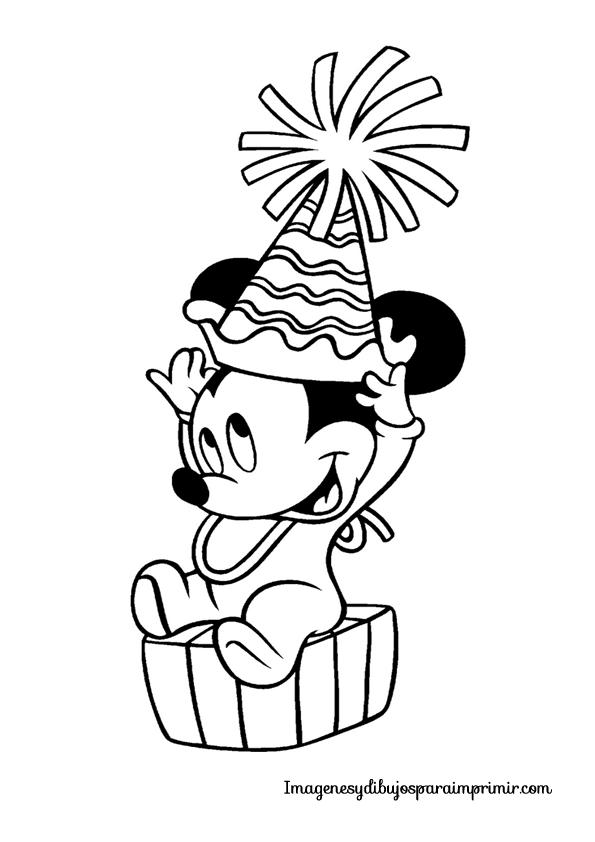 Mickey bebe de cumpleaños