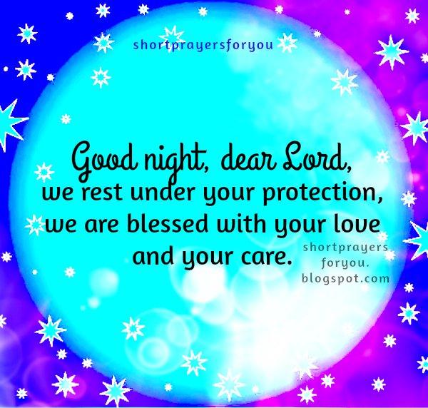 short night prayer, free christian prayer for you and me, night prayer for my family and my house by Mery Bracho.