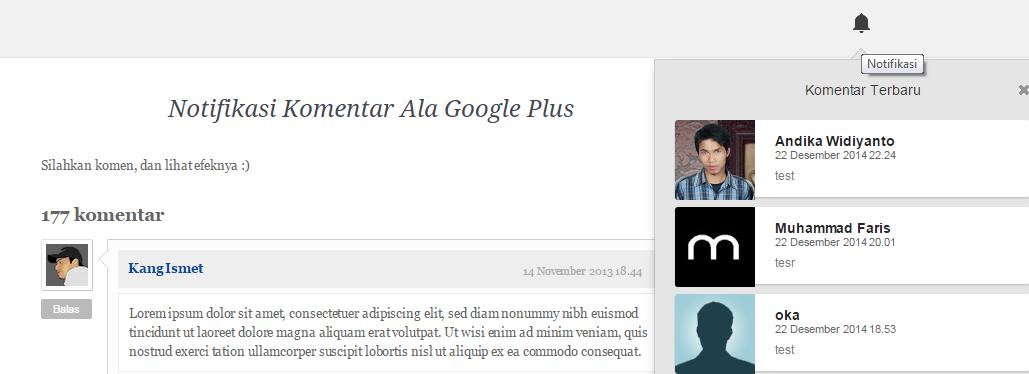 Cara Mudah Membuat Notifikasi Komentar Ala Google Plus