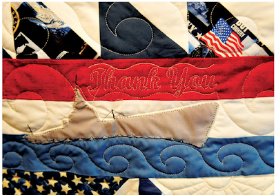 Quilt of Valor and Quiltsmart quilt