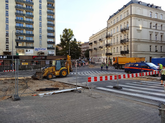 Budowa ronda u zbiegu ulic Kopernika i Tamka