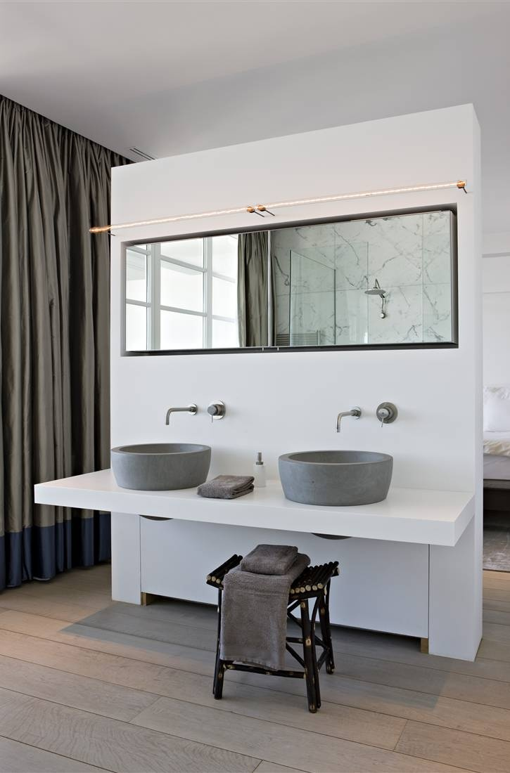 Stijl image badkamer indelingen met sfeer - Open douche ruimte ...
