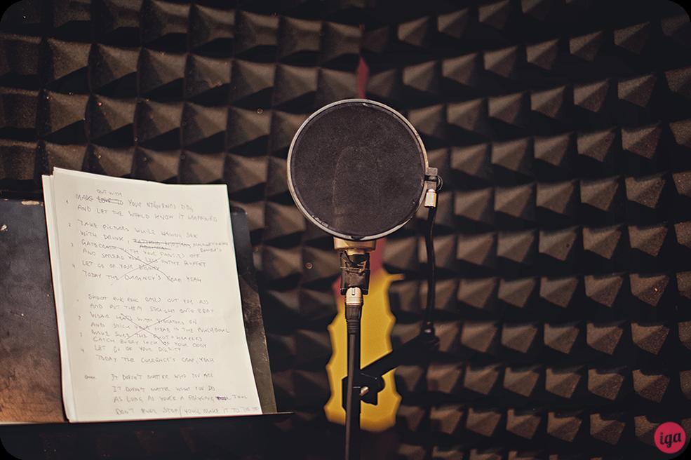 zdjęcia w studio nagrań The Cheese