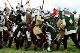 Renactment of the Battle of Bosworth Field fought in 1485 