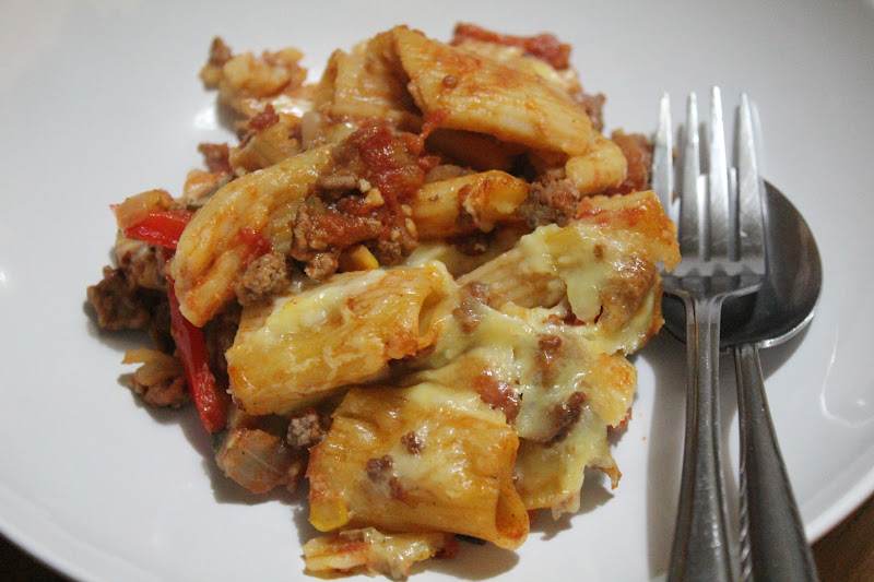 Spicy Beef, Vegetable and Rigatoni Bake - A Dash Of Flavour Printable ...
