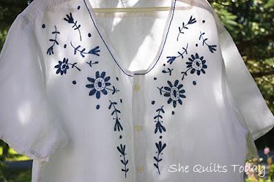 Como hacer una blusa Bordada