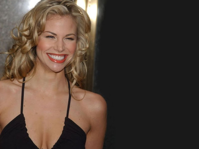 Brooke Burns in black lingerie