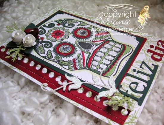 sugar skull card flat