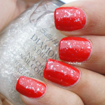 NailaDay: Love and Beauty Cherry and Sally Hansen Glass Slipper