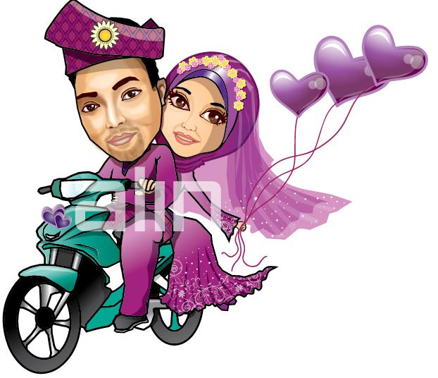 ... 29 karikatur pengantin 22 kartun muslimah 22 koleksi kartun kak alin