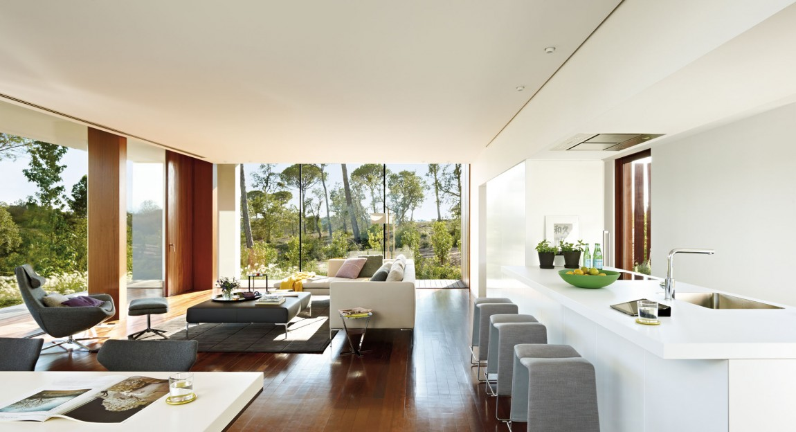 World Of Architecture Modern Villa Indigo Catalonia Spain