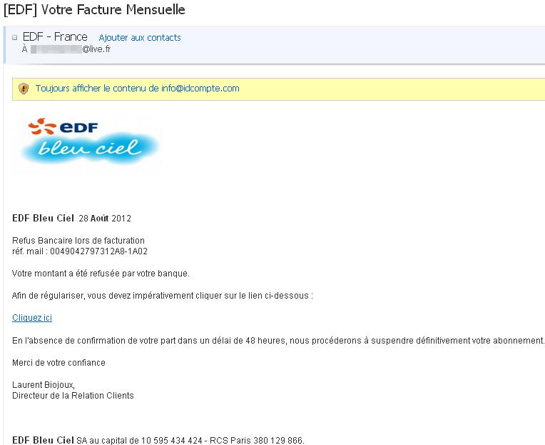 facture client edf
