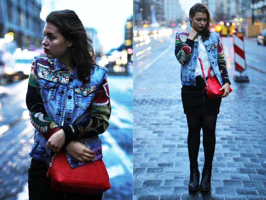 desigual exotic jean jacket