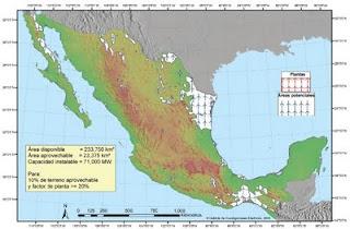 mapa eolico en mexico