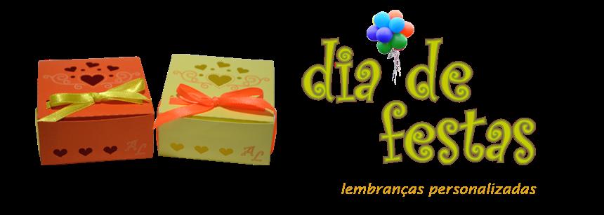 Dia de Festas lembranças personalizadas