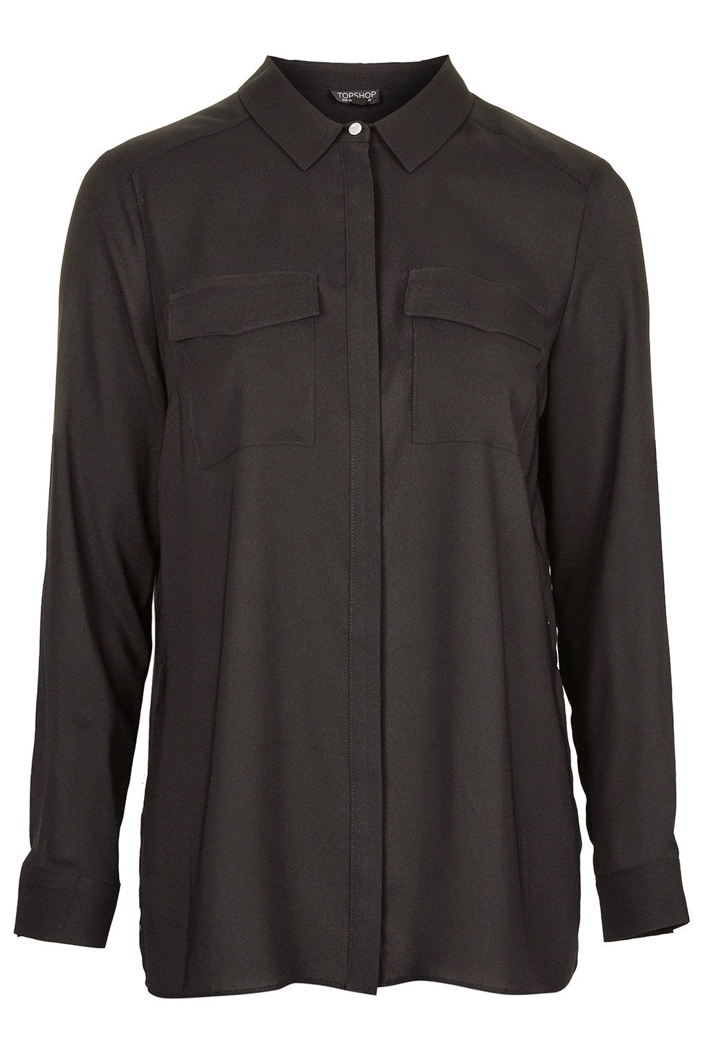 black topshop shirt