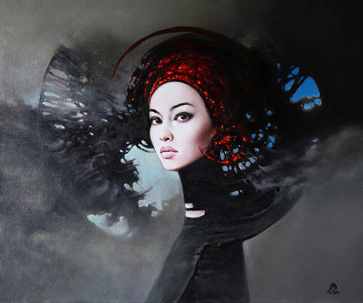 06-Karol-Bąk-Beautifully-Stylised-Portrait-Paintings-www-designstack-co