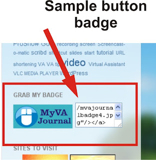how to display a button badge