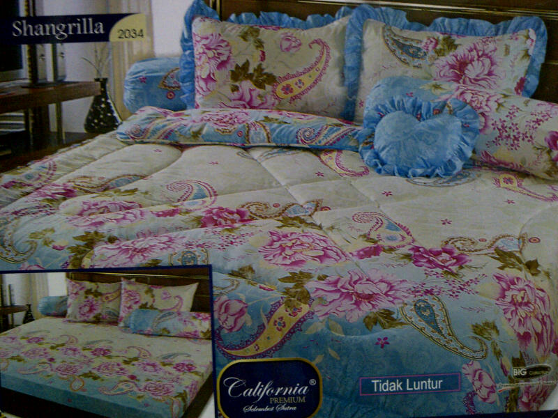 bed cover terbaru 2012: Rumah sprei amp bed cover sprei california premium