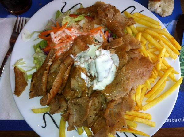 Yummy kebab plate