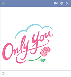 Only you - Love emoticon