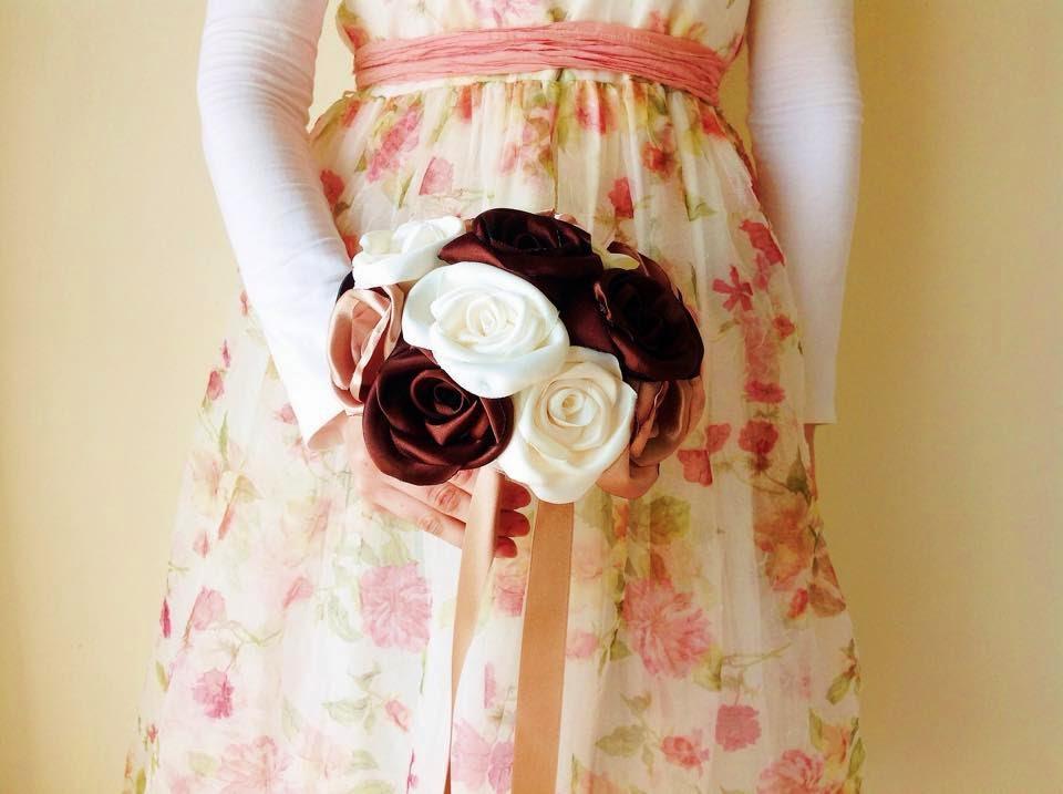 ramo rosas cetim