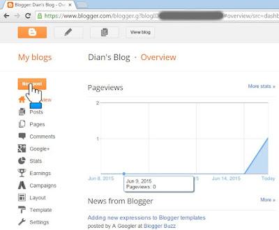 Blogger post