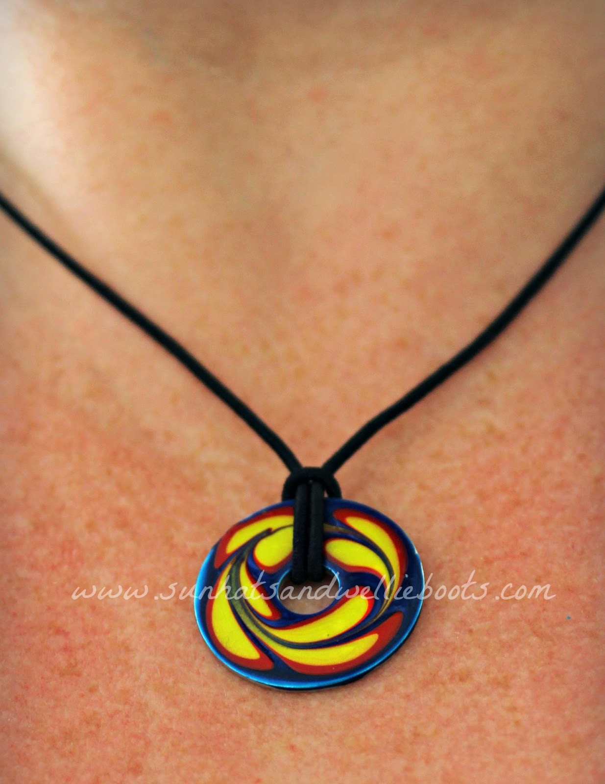 paper with washer scrapbook necklace made pin