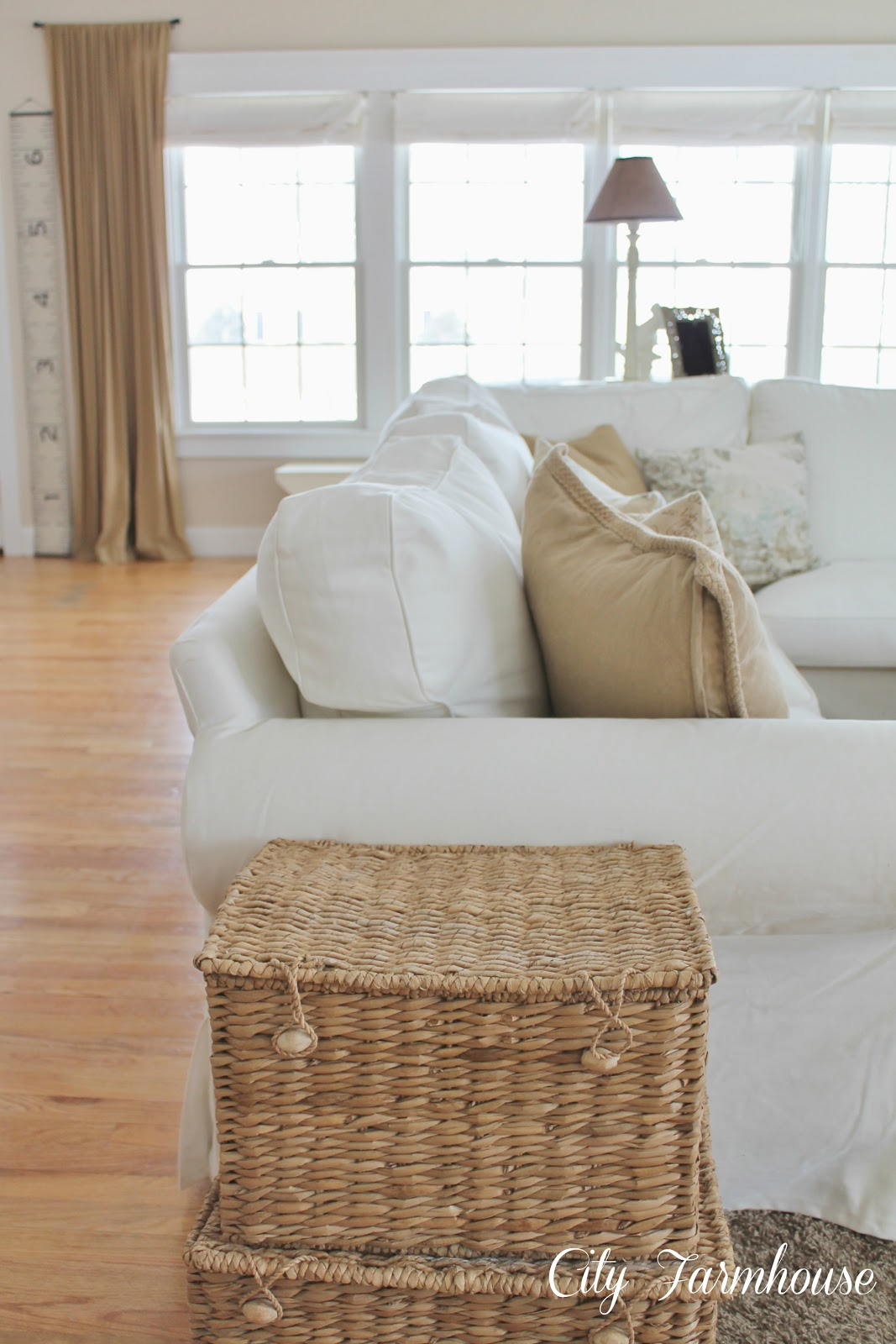 Real Life With A White Slipcover & Keeping It Pretty
