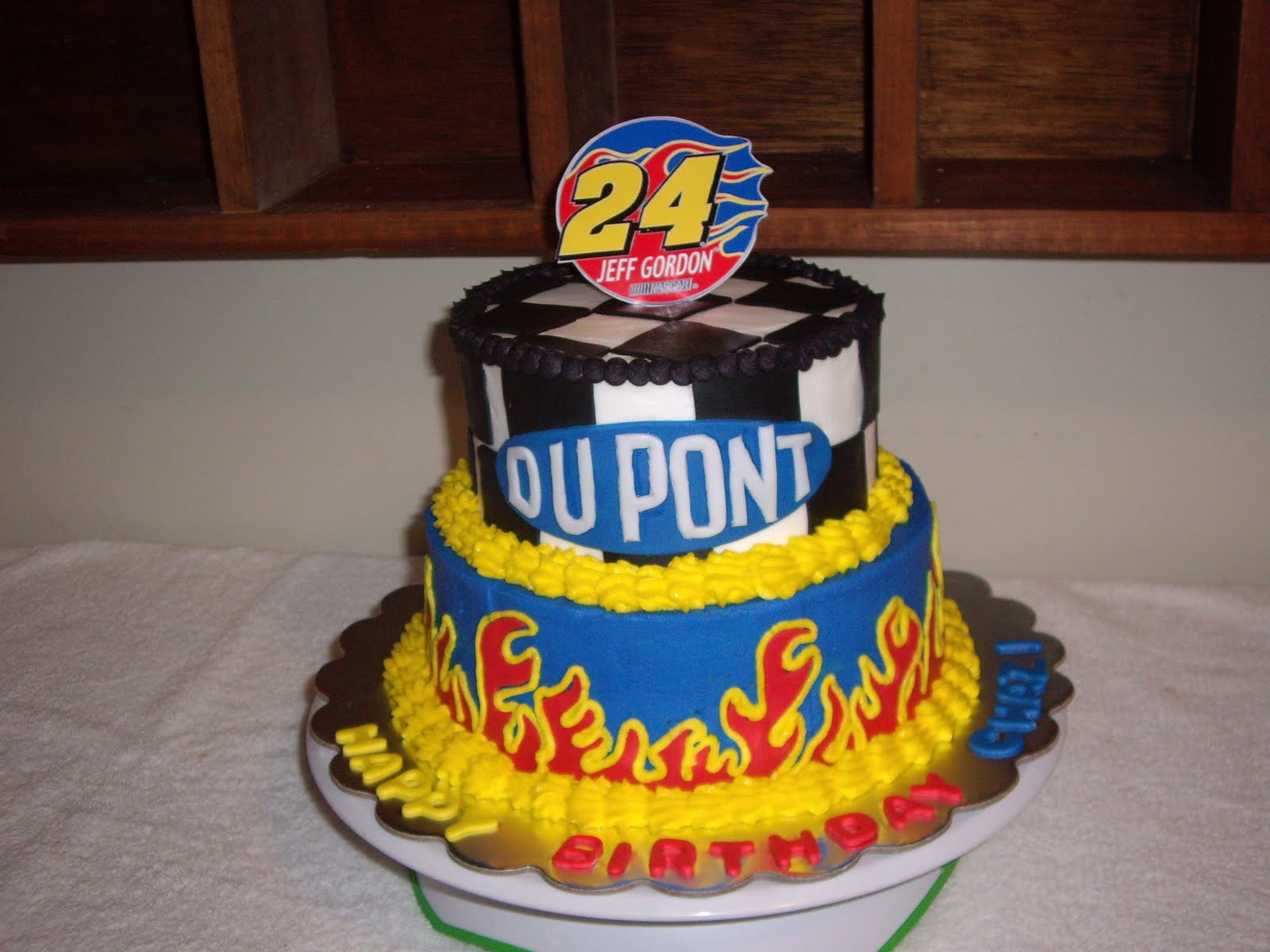 NASCAR Cakes http://customcakesbychristy.blogspot.com/2011/03/jeff-gordon-nascar-birthday-cake.html