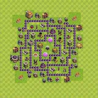Formasi Base Clash of Clans TH7 Farming 5