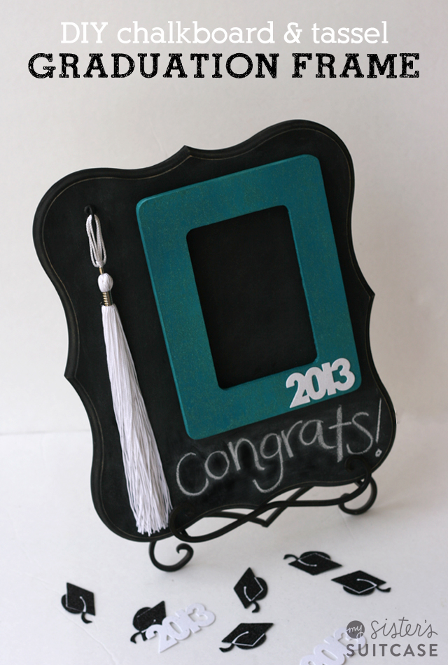 here is a fun gift idea that is perfect for a graduate a diy photo frame with tassel holder - Graduation Gift Ideas