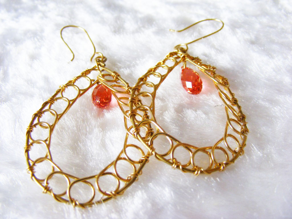 Wire earring projects