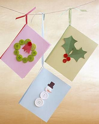 Mi escuela divertida tarjetas navide as realizadas a mano - Postales navidenas para hacer ...