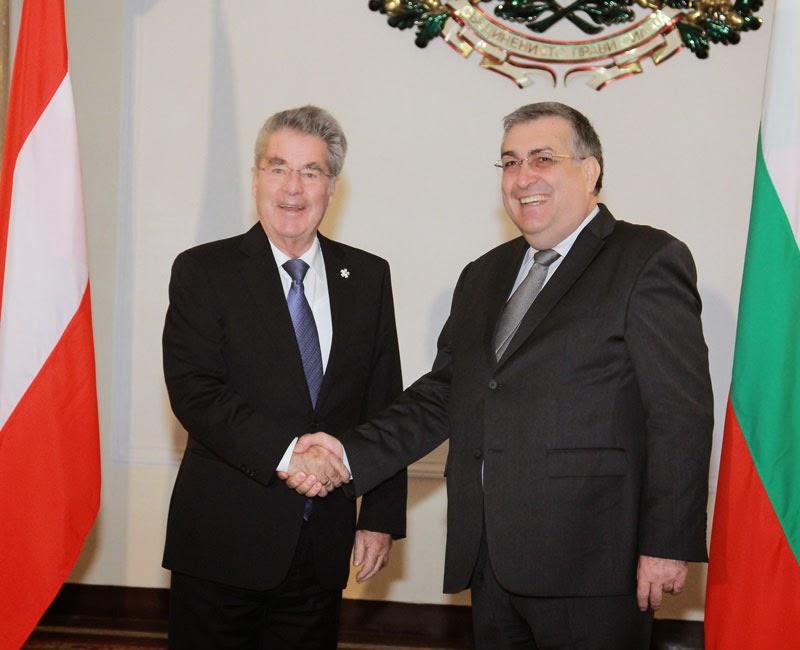 Георги Близнашки на срещата си президента на Република Австрия д-р Хайнц Фишер