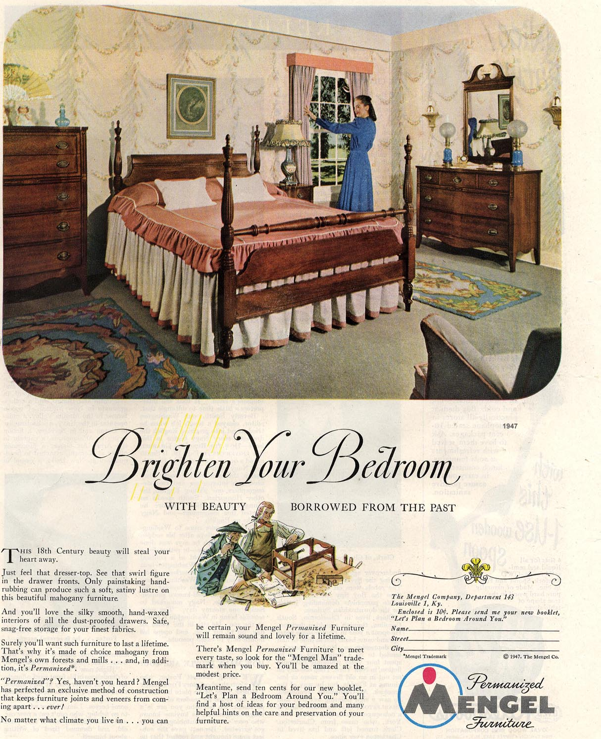 The Visual Primer Of Advertising Cliches Brighten Your Bedroom Mengel Furn