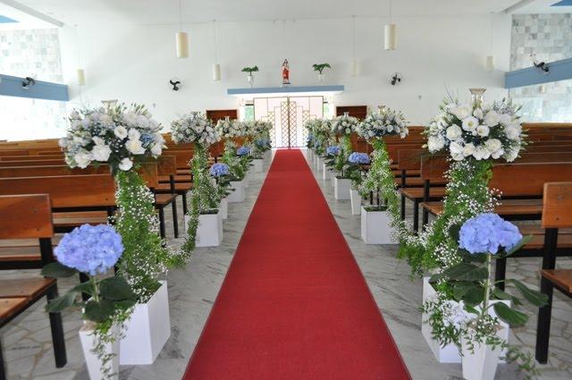 decoracao casamento hortencias azuis vasos de hortências azuis
