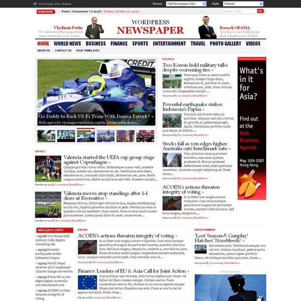 Free download WP Advanced Newspaper Theme by Gabfire - WEB Tutorial