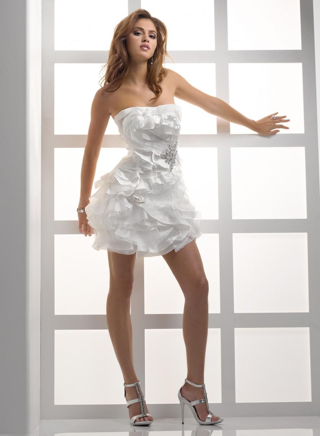 short unique beach wedding dresses