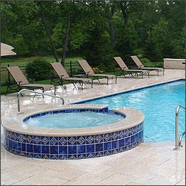marble pool tiles